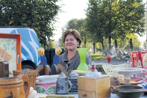 Hege Therese Svads fra Drøbak var en av flere selgere som møtte opp ved Thorvaldsen gården i Vestby.