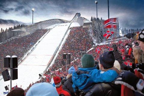 Her et bilde fra ski-VM i 2011. Slike scener kan man også få i OL i 2022. Hvis det blir et ja da vel og merke.