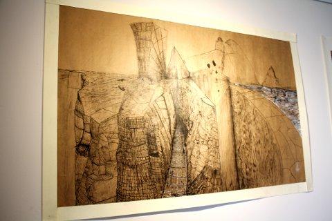 Øystein Vadet leker med natur og geometri i bildene sine.