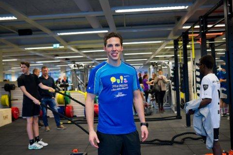 Eirik Flatjord hadde god grunn til å smile laurdag. No kan han ta imot 2000 medlemmer i nytt lokale.