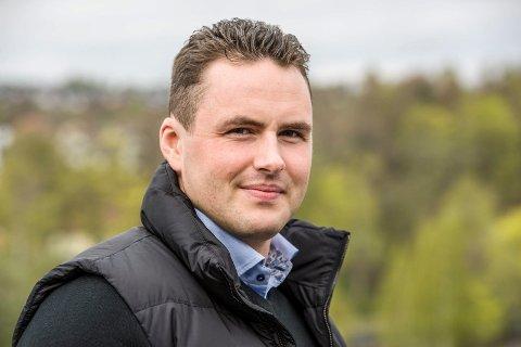 Den nye sjefen: Michael Stang Treschow (f. 1987).