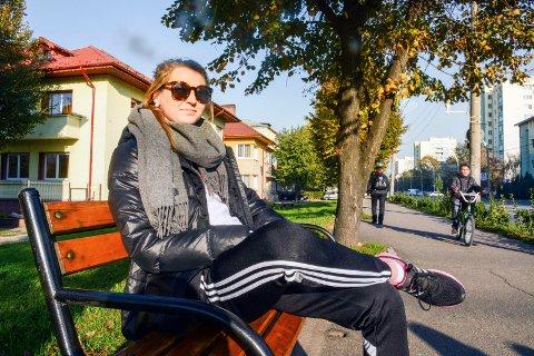 Glinser: Sanna Solberg kan sole seg i Romanias gater med sine tre første måneder og Champions League-debut unnagjort for Larvik HK. ? Totalt sett er jeg fornøyd med starten.Foto: Torgrim Skogheim
