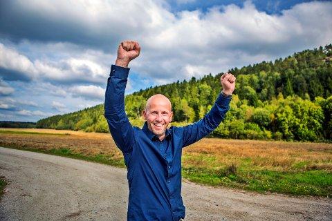 I MÅL: Trond Frigaard har god grunn til å juble, etter å ha nådd målet om å sikre seg full kontroll i et svensk selskap med en omsetning på rundt 600 millioner kroner. Foto: Trine sirnes