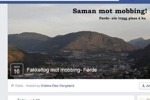 Kristine Elise Wergeland og Linda-Helene Frøholm kasta seg rundt og arrangerer fakkeltog mot mobbing i Førde.