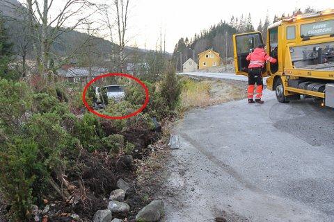 HAGEFERD: Her stogga bilen, etter å ha lagt hekk og TV-antenne flate.
