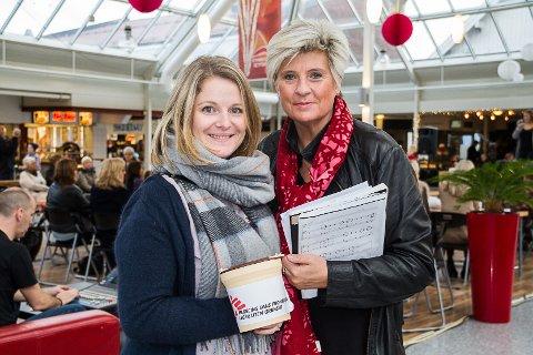 INITIATIVTAKARANE: Linn Håland Vetaas og Kjersti Wiik tok initiativ og arrangerte veldedighetskonserten, som gjekk til Leger Uten Grenser sin kamp mot ebola.