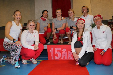 INSTRUKTØRENE: Benedikte Braathen, Cecilie Halvorsen, Britt Braathen, Ingrid Grøterud, Elisabeth Viljugrein, Henriette Braathen, Heidi Løvstad og Venke Sand.