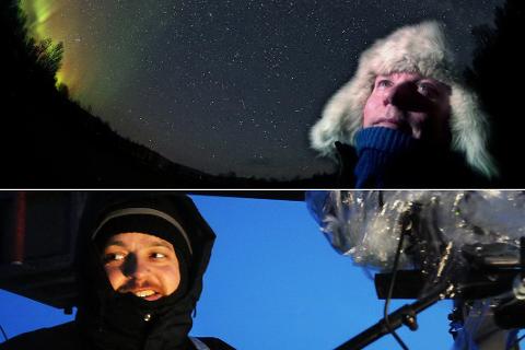 FÅR PENGER: Fylkeskommunen gir 150.000 kroner til hver av filmarbeiderne Anstein Mikkelsen (øverst) og Mathis Ståle Mathisen.