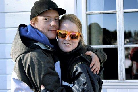 Lys i hverdagen: Her er Anniken med kjæresten Christoffer Skaug. Bildet ble tatt i påsken i fjor. Foto: privat