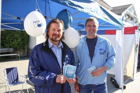 EN OG TRE: At Rune Meier (til venstre) topper Høyre-lista i Gran har lenge vært klart. Nå ser det ut til at han får med Eivind Brænden (foreslått nummer tre) på laget i valgkampen. ARKIVFOTO: ATLE NIELSEN