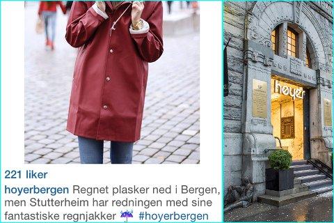 44fd02be Produsenten Stutterheim har fått flere klager på at lommene fylles med vann  på regnjakkene. Jakkene