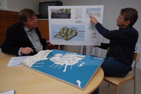 Oddvar johansen og Johan Østengen fra hemnholdsvis Kritt Arkitekter AS og østengen & bergo landskapsarkitekter vant konkurransen om utbyggingen av Holmen. Allgrønn hevder politikerne ikke var klare nok på hva de ønsket på Holmen.