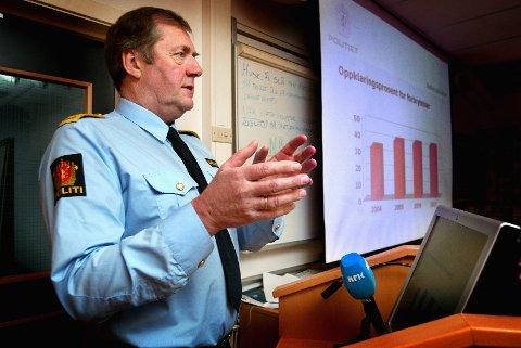 Politimester Otto Stærk. slutter i Østfold politidistrikt til høsten for å begynne å jobbe i Politidirektoratet. (Arkivfoto: Johnny Helgesen)