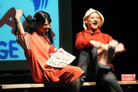 I BARNEHAGEN: Hvem henter oss i dag? Det var spørsmålet til disse to barnehage-jentene, spilt av Mariann Darrud og Torunn Irene Rugaas.