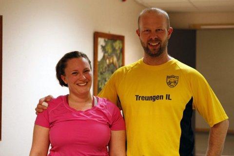 GODT SAMARBEID: Helge Reinholt og Anne M. Espelid - idrett og kommune - samarbeider godt i Treungen. Nissedal er den første folkehelsekommunen i fylket.