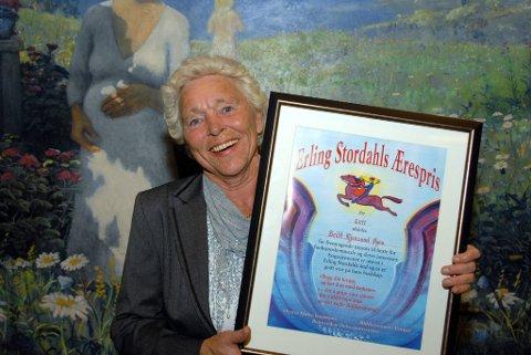 stordahls pris: Britt Mjaasund Øyen har hatt en lang karriere som idrettsutøver med svært gode prestasjoner på nasjonalt og internasjonalt nivå.