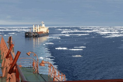 MOT ØST: Sjørutene i Arktis gjennom Nordøstpassasjen gjør at Norge blir Kinas nærmeste nabo i Vest-Europa. Illustrasjonsfoto: Tschudi Shipping