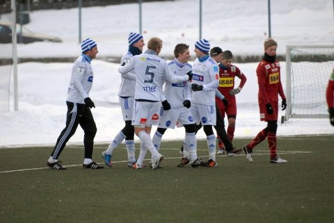 Best: Gjøvik FF hadde ikke problemer med å slå Valdres FK i lørdagens treningskamp.