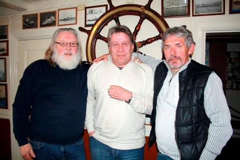 Anton Smith, Henning Haug og Magn Muledal deltok i april i år på årsmøte i Offshore Dykker Union i sjømannsforeningen i Brevik.