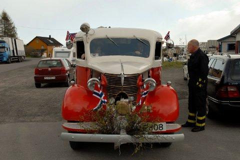 Dette er kommunens første brannbil, som man vil beholde for etterslekten.