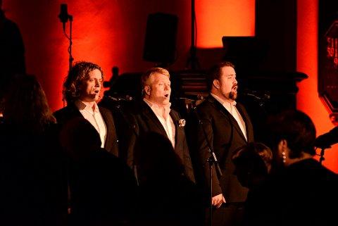 Marius Roth Christensen, Thomas Ruud og Kristian Krokslett delte all sin stemmeprakt med publikum.