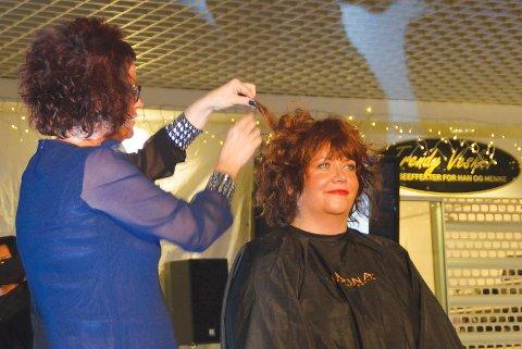 stylet: Gry Rønelv Leikanger ble festfin på håret.