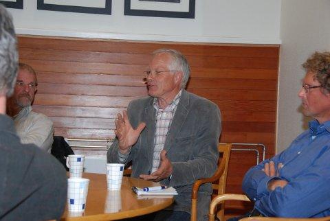 Prosjektleder Kjell H. Haugen fra Buer Prosjekt møtte Risørpolitikere sist torsdag