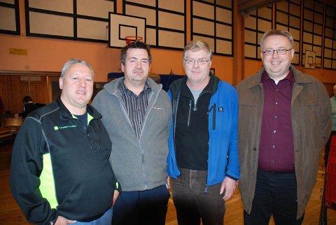 Båsmo BK har tatt teten i 3. divisjon. Fra venstre Jarle Bogen, Bjørn Erik Rydland, Leif Riksvold og Kurt-Ove Thomassen.