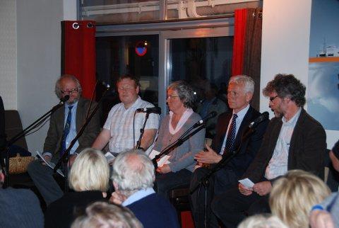 Panelet besto av: Erling Okkenhaug (f.v.), Stian Lund, Helene Frydenberg, Victor Norman og Thomas Hirsch.