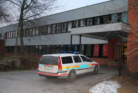 PLAGET: Stridsklev skole har vært plaget av innbrudd en rekke ganger de siste årene. Bildet er fra et innbrudd i desember 2008.