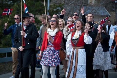 Tromsøværingene var preget av høy patriotisme i 1814. Det er kanskje også tilfellet under dagens 17. mai? Her fra 2012 i Tromsø. Foto: Amalie Johannessen