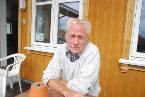 Trist: Formann i Stavern Båtforening, Gunnar Knutsen, synes det er trist at pengekassa er stjålet og håper den dukker opp igjen.
