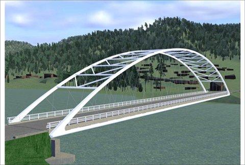 Slik vil den nye brua over Driva se ut. Anleggsarbeidet vil ikke komme i gang før sent i 2013.