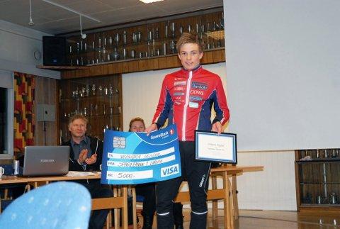 Fornøyd: Vebjørn Hegdal fikk ungdommens Idrettspris.