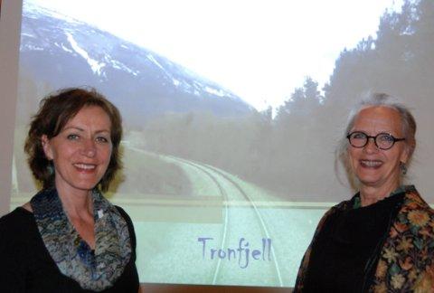TOGTUR: - Tronfjell, det er et favorittfjell, sier Helga D. Storbekken og  Käthe Øien.
