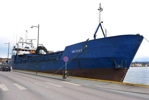 «Halsvik III» besøkte Kristiansund tirsdag 4. februar 2014.