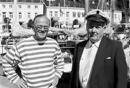 Jan Herman Linge fikk bygget båter etter egne tegninger hos båtbyggeren Ånon Kittelsen t.h. mange av Ånons båter havnet til  krevende kunder i USA og England.
