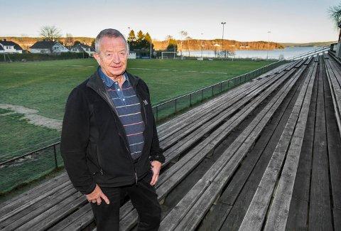 """Odd Grønberg er """"mister TTIF fotball junior himself"""" og omtaler stadion ved Femsjøens bredd som sitt hjem. - Hjertet mitt har alltid tilhørt TTIF, sier han. Nå er Grønberg en av fem finalister til prisen Årets ildsjel 2013.  Foto: Stein Johnsen."""