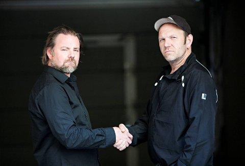 Gutta Boys, Bjarte Aasmul (t.h.) og Kai Taule kjenner hverandre fra ungdomstiden i Alversund og Knarvik.