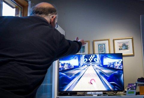Bowling: På Xbox-en har de flere spill å velge mellom, blant annet bowlig.