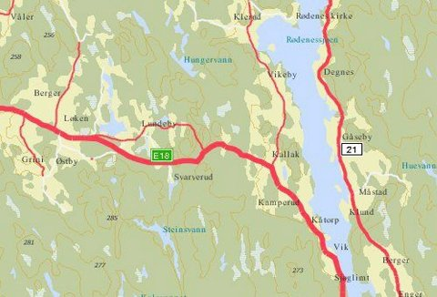 visveg kart Smaalenenes Avis   Pinlig kartfeil for veivesenet visveg kart