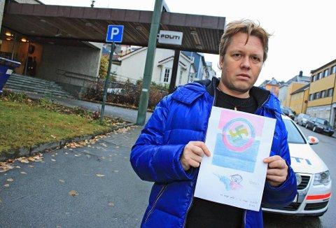POLITIANMELDTE: Tromsø Sameforening politianmeldte i går dette brevet de fikk i posten. Avsender er ukjent. Leder av foreningen Gøran Lind anser det som et trusselbrev.