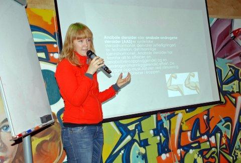 Marit Vidringstad advarer mot bivirkningene ved bruk av anabole steroider.