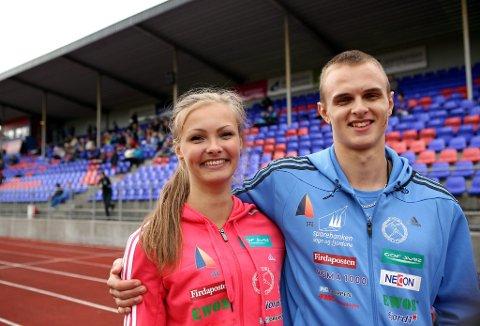 Søskenparet Øyvind og Kristi gjer det skarpt i friidrett.