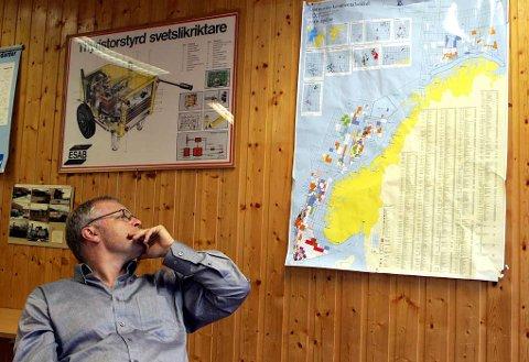 SENTRALT PLASSERT: Daglig leder Stig-Helge Lilleholt og Svetek holder hus midt i vårt langstrakte land. Det gjør at selskapet har nærhet til både Norskehavet og Nordsjøen, med Barentshavet som «bonus» i nord.