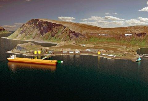 Slik ser Statoil for seg ilandføringsterminalen på Veidnes.