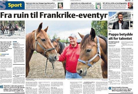 FAKSIMILE: Sommeren 2012 opplevde Tom Forkerud sitt livs mareritt da hestene hans på Skotterud ble veldig syke.