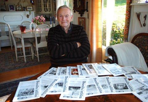LOKALHISTORIKEREN: Nøyaktig 50 utgaver av Brandbustikka har det blitt på Helge Stenersen. Han døde mandag 10. februar, 85 år gammel. Arkivfoto: Haakon Kalvsjøhagen