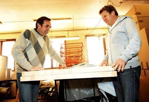 «Ingebrigt Breistøl (til venstre) og Johan Walter vil blåse nytt liv i Krogenæs-merkevaren med helt ny kolleksjon i øvre prissjiktet» het det i billedteksten til dette bildet i GD i januar 2011.Foto: Einar Almehagen