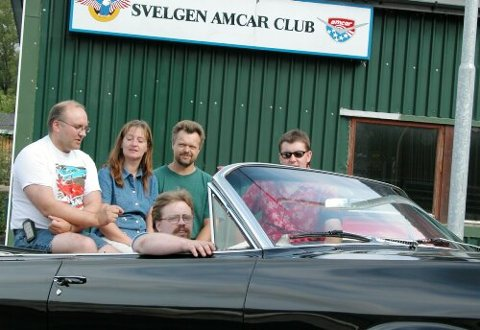 GLIS: Det blir amerikanske glis å sjå i Svelgen denne helga. 150 bilar er venta å komme. (Arkiv)